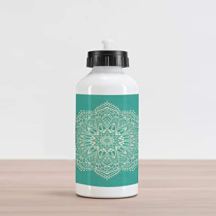 Amazon.com: Lunarable Mandala Aluminum Water Bottle, Eastern ...