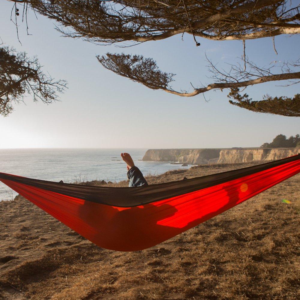 HomEco Camping Hammock Lightweight Nylon Parachute Travel Hammocks Double and Single Size