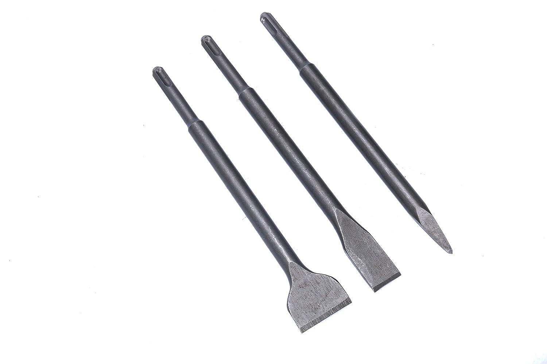 burin plat YaeTek SDS-Plus Lot de 3 burins rotatifs pour marteau perforateur 3 pi/èces dont burin /à pointe burin /à manivelle pour la d/émolition de ma/çonnerie et de b/éton