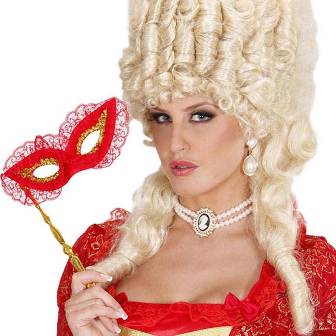 Perla Cadena con broche Cameo barroco collar rococó Cuello Reina joyas fiesta temática Históricos accesorios Carnaval Disfraces accesorios Mujer: Amazon.es: Juguetes y juegos