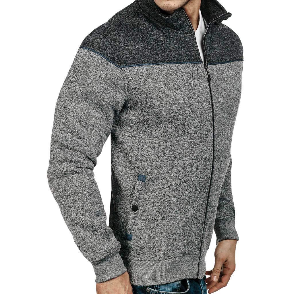 Forthery Mens Full-Zip EcoSmart Fleece Hoodie Slim Fit Sweatshirt Jacket