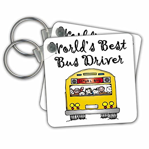 Amazoncom Evadane Funny Quotes Worlds Best Bus Driver Key