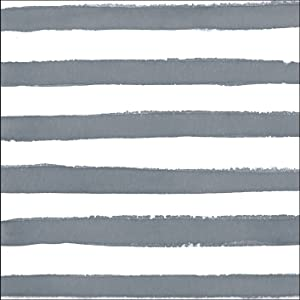 Creative Converting 24 Count Premium Patterned Beverage Napkins, Dotted and Striped, Platinum