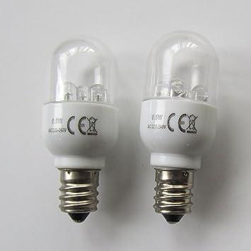 KUNPENG - # LED-E12 220V 2piezas Bombillas LED para la máquina de coser doméstica 0.5W 220 voltios Tipo de tornillo: Amazon.es: Hogar