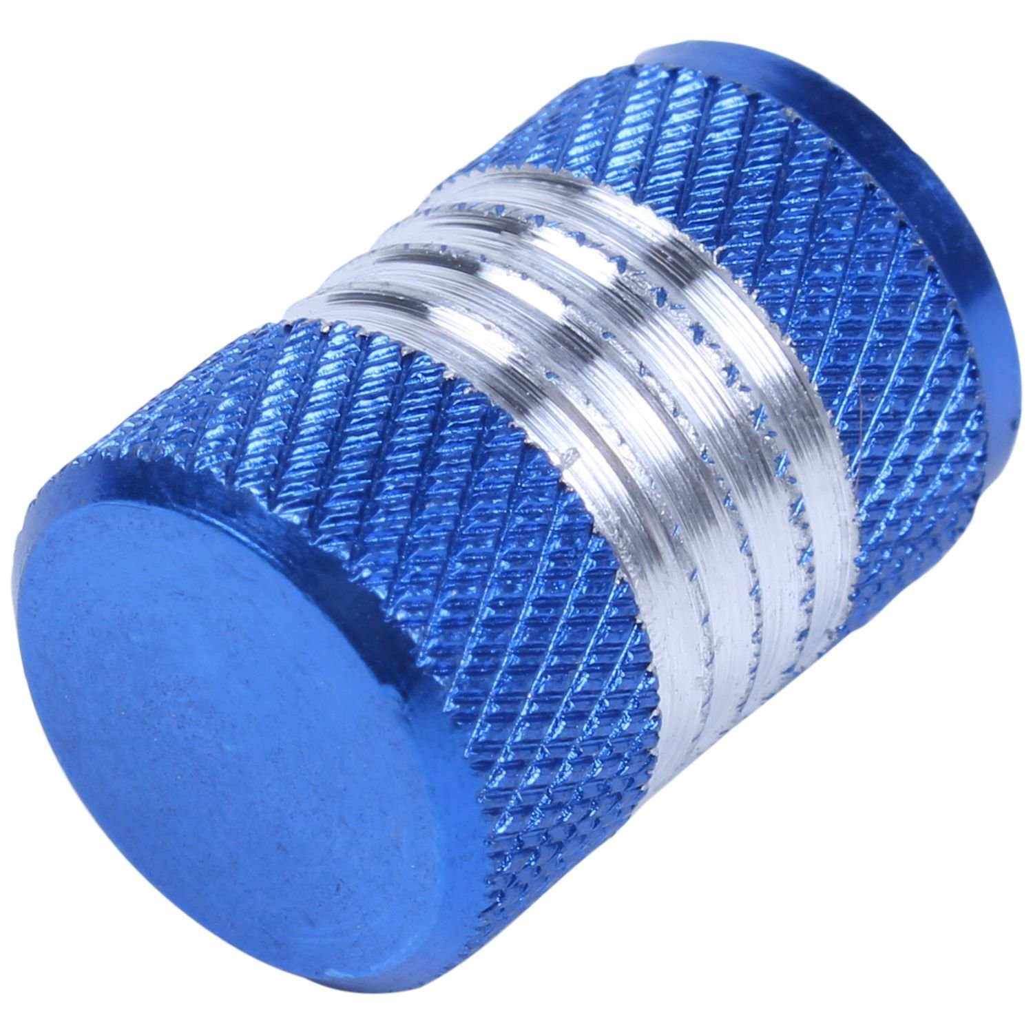 Tires Stem Caps - TOOGOO(R)4Pcs Aluminum Alloy Car Motorcycle Wheel Tire Valve Stem Cap Dust Cover Blue