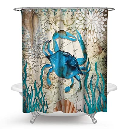 13 Style Octopus Shower Curtain  Polyester Fabric Bathroom  Decoration 71x71Inch
