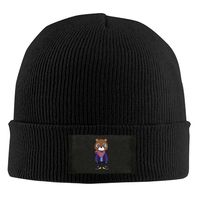 YFLLAY Kanye West Bear Dropout Bear Knit Cap Woolen Hat For Unisex