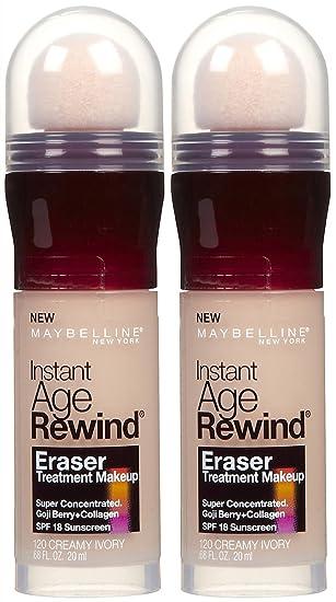 MAYBELLINE Instant Age Rewind Eraser Treatment Makeup Creamy Ivory ...