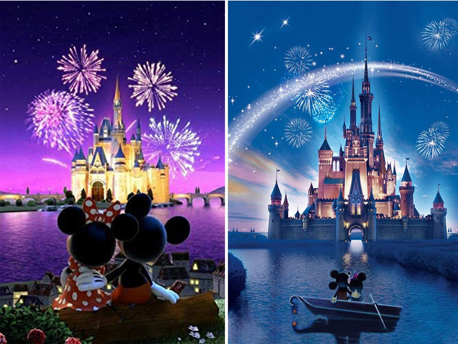 2 Pinturas por Diamantes Kit Completo Disney - 8P45GDZT