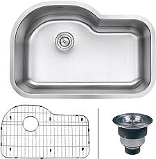 """Ruvati RVM4700 Undermount 16 Gauge 32"""" Kitchen Sink Single Bowl"""