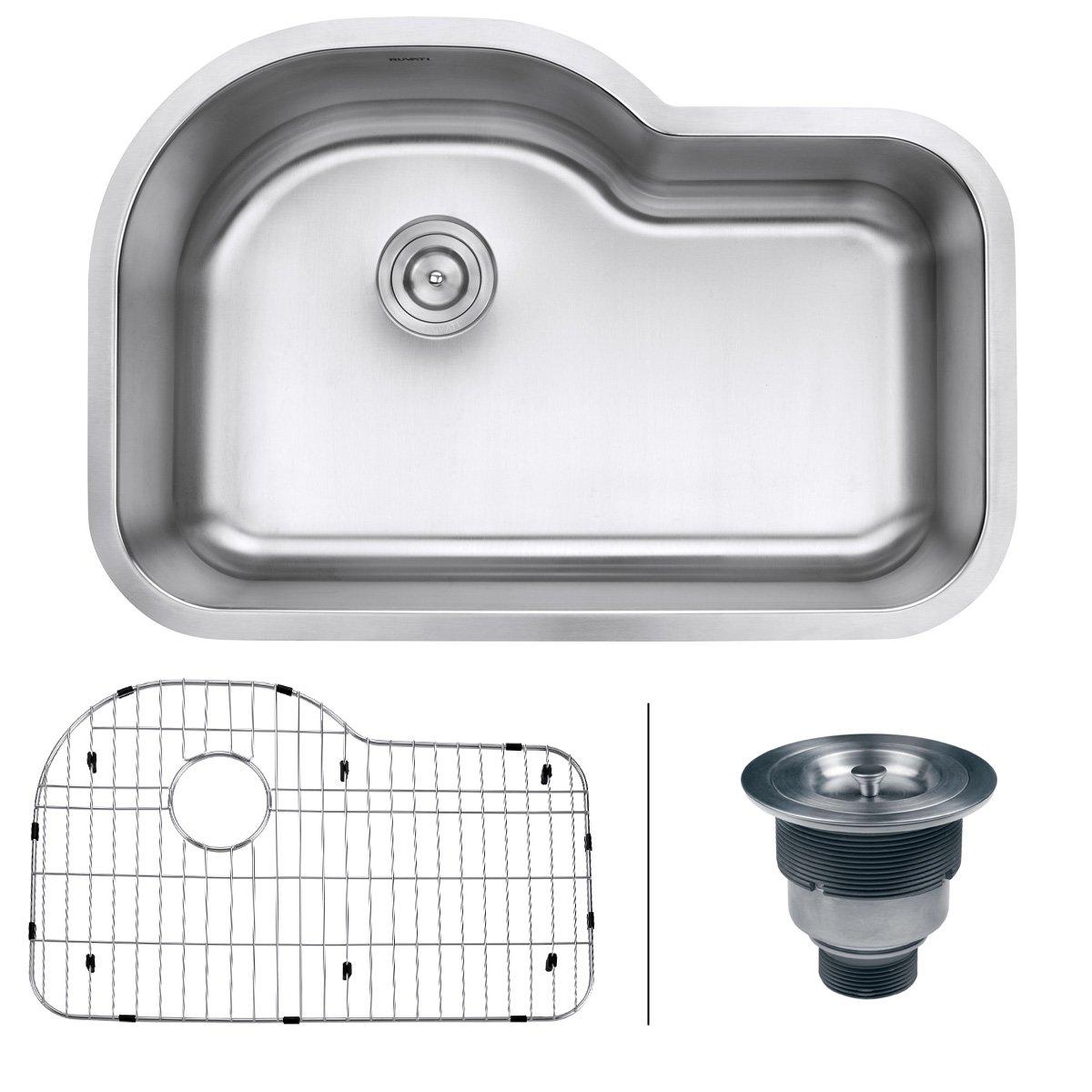 Ruvati RVM4700 Undermount 16 Gauge 32'' Kitchen Sink Single Bowl