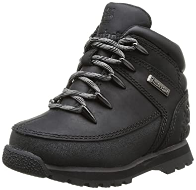 2b9b844d104 Timberland Children Boys Euro Sprint Boot in Black- Lace Fastening ...
