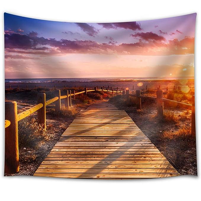 wall26 - Sunset Beach Near Almeria. Cabo De Gata Nijar Natural Park, AlmeríA. Spain. Andalusia - Fabric Wall Tapestry Home Decor - 68x80 inches