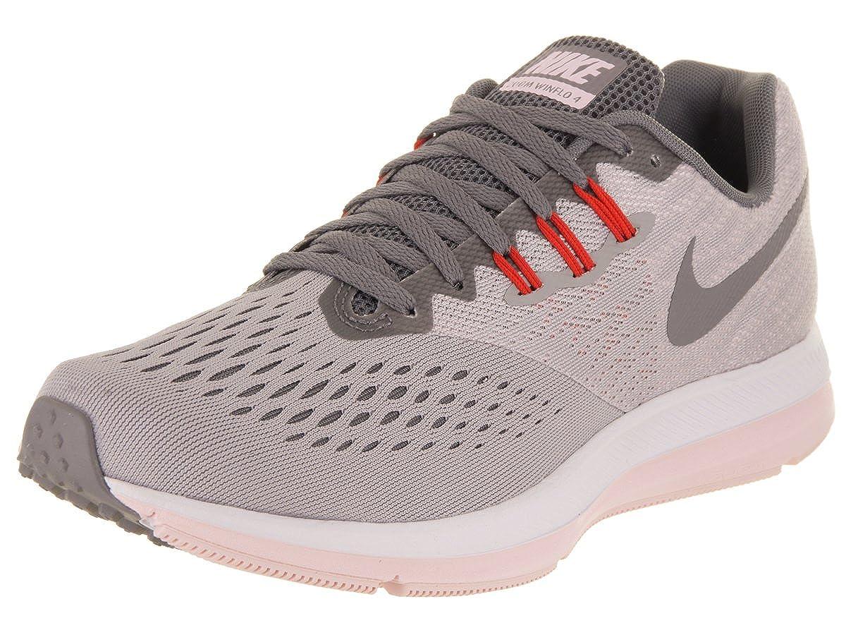 MultiCouleure (Atmosphere gris Gunsmoke Arctic rose 010) 36.5 EU Nike WMNS Zoom Winflo 4, Chaussures d'Athlétisme Femme
