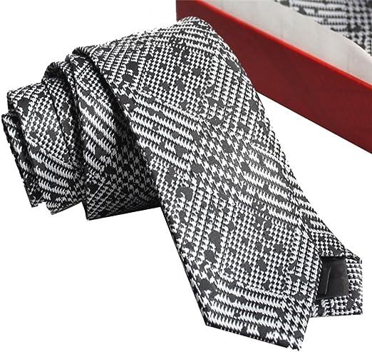 YYB-Tie Corbata Moda Corbata para Hombre Corbata Plateada Diseño ...