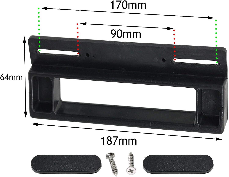 190mm, Black Creda /& Ariston Fridge Freezer Compatible with Indesit SPARES2GO Universal Door Handle