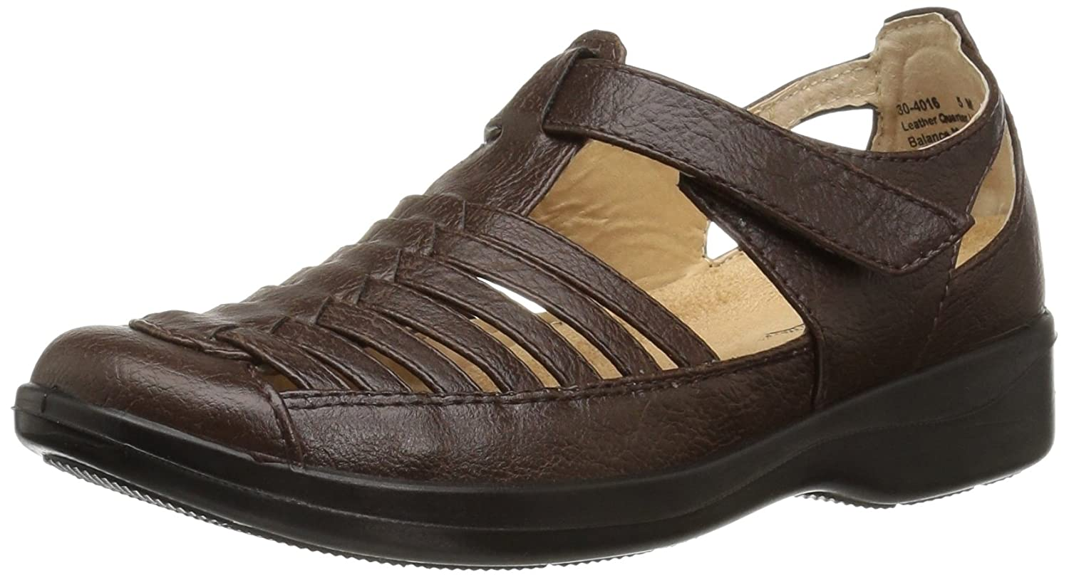 Easy Street Women's Doris Flat B01N7BNQ0N 5 B(M) US|Brown Burnish