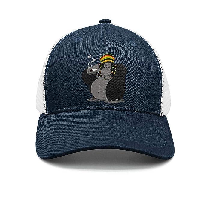 Monkey gorilla smoking Street Dancing Baseball Hats navy-blue Cap at ... b60eb0917d03