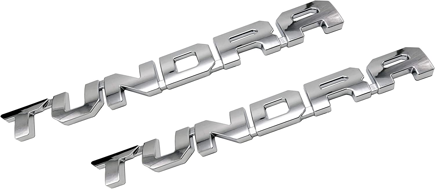 Chrome Tundra Door Emblem Sticker Badges For 2013-2018 SR5 1974 TRD PRO 2 Pack