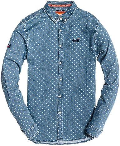 Superdry Camisa Topos Azul Hombre S Azul: Amazon.es: Ropa y accesorios