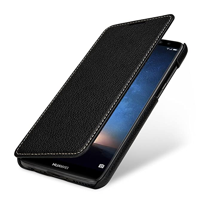 super popular 9b588 cbacf StilGut Huawei Mate 10 Lite Case, Book Type Leather Flip Case for Huawei  Mate 10 Lite, Black