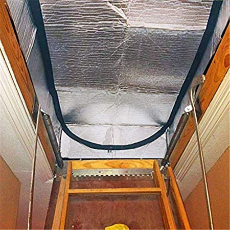 Niyin204 Attic Stairway Insulator Attic Stairway Iinsulation Cover Double Sided Insulation Tent Aluminum Foil Door Insulator Kit With Easy Access Zipper 138 64 28cm Intensely Amazon Co Uk Kitchen Home