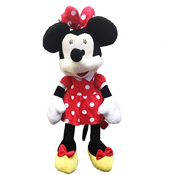 5bdb717ee1c Amazon.com  MINNIE MOUSE PLUSH BACKPACK! FIGURE STUFFED TOY DISNEY 18