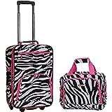 Rockland Luggage 2 Piece Set, Pink Zebra
