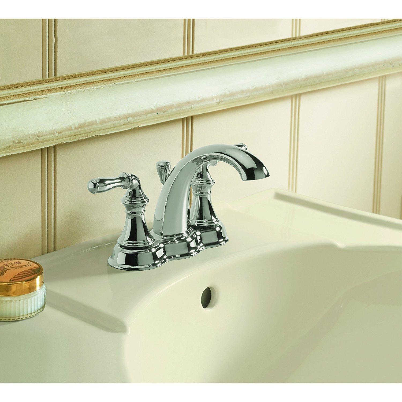 Kohler K-393-N4-2BZ Devonshire 4-Inch Centerset Lavatory Faucet, Oil ...