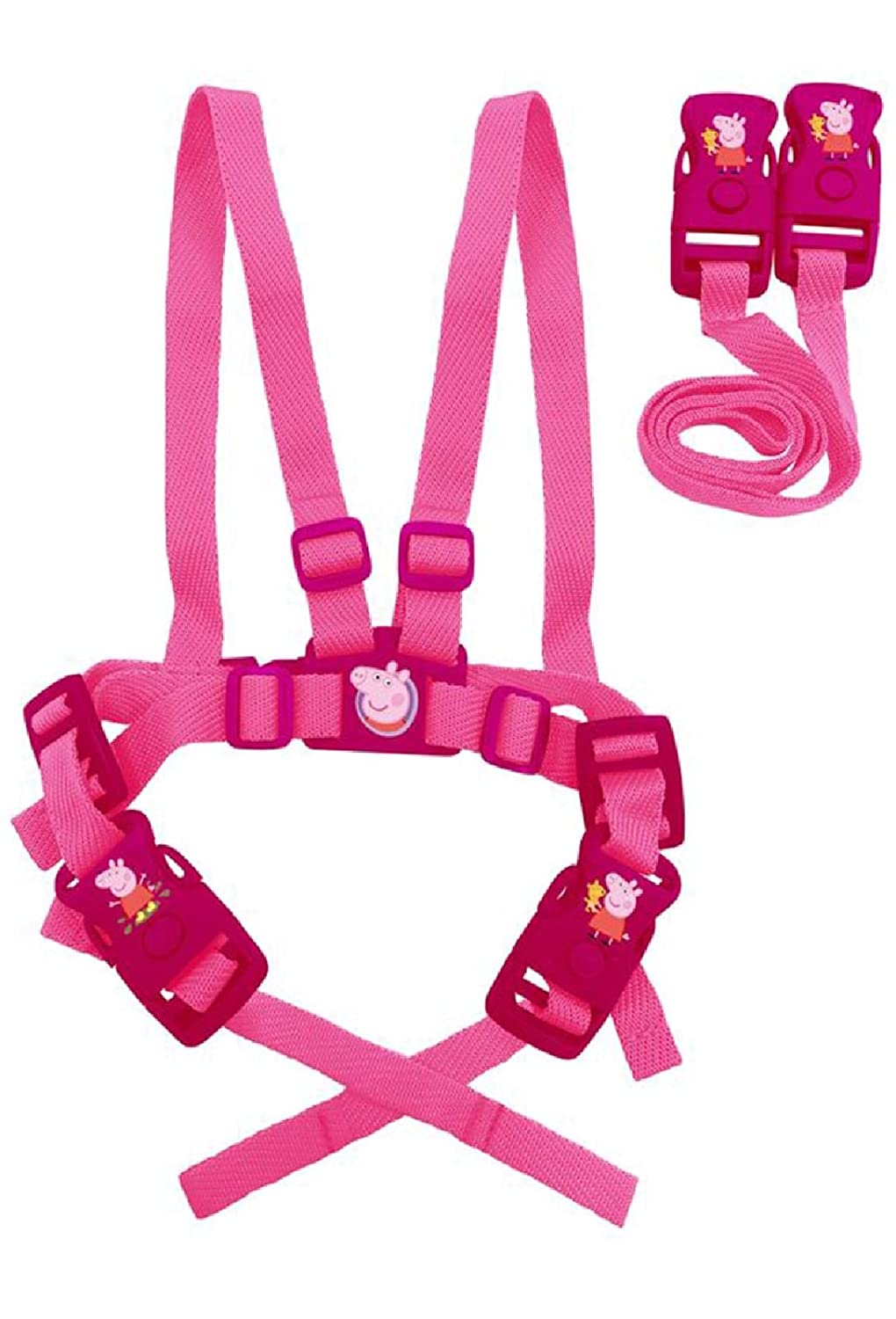 Alligator Girls Peppa Pig Safety Harness and Travel Reins - Pink