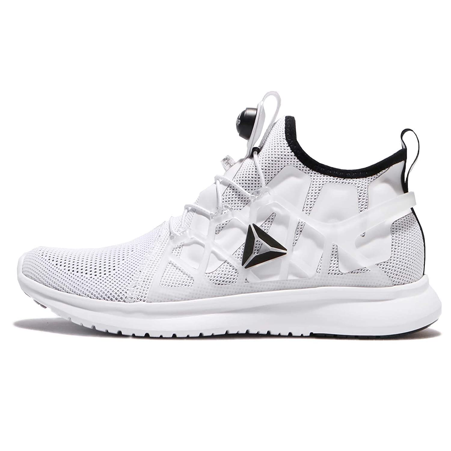 Reebok Pump Plus Cage, Zapatillas de Running para Hombre 44.5 EU|Blanco (White / Black)