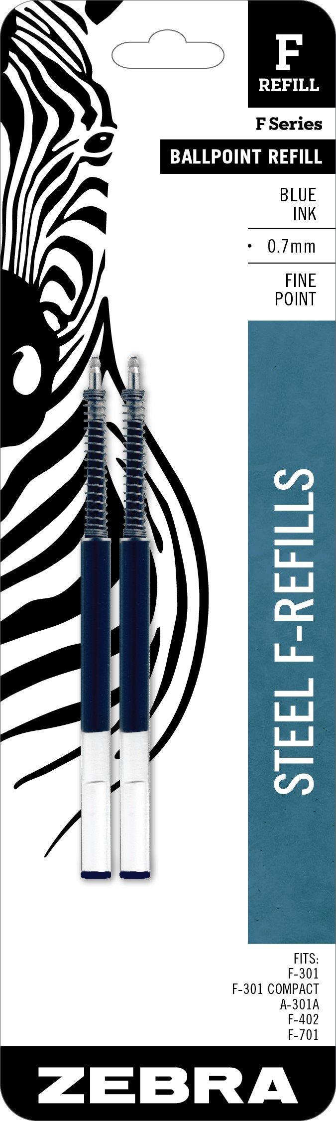 Recarga Tinta Zebra Pen 0.7mm Azul (85522) [2un.]