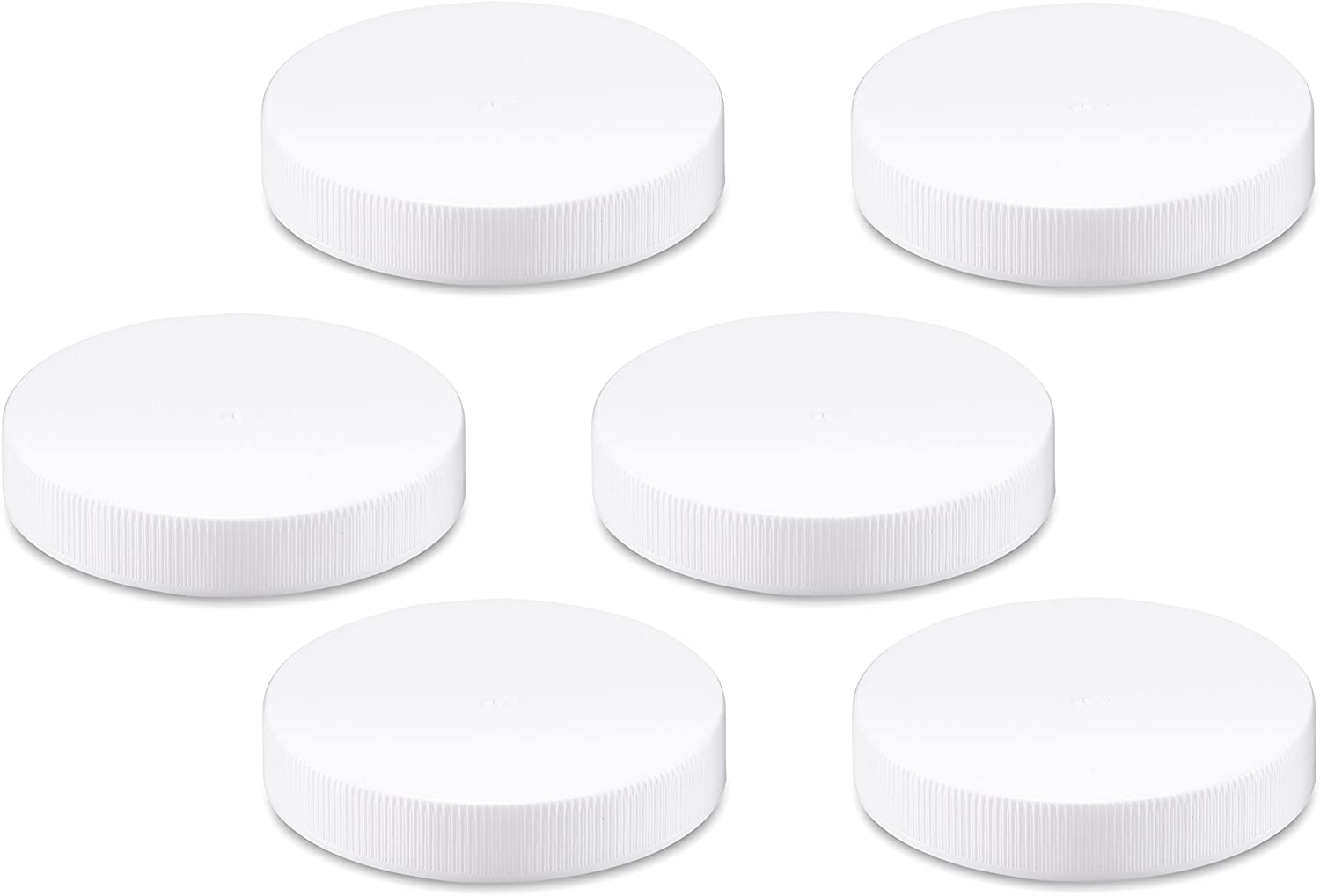 All About Juicing Replacement Lids for 16 Ounce Wide Mouth VAS Exclusive Beverage Bottles, 6 Pack caps