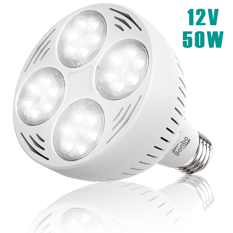 Bonbo LED Pool Bulb White Light, 12V 50watt 6500k Daylight Swimming Pool LED Bulb E26 Base 300-600w Traditional Bulb Replacement Most Pentair Hayward Light Fixture