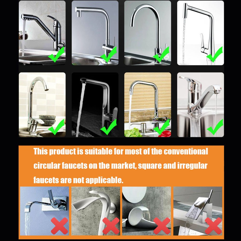 H&xy Faucet prevent splash head extender kitchen household tap water ...