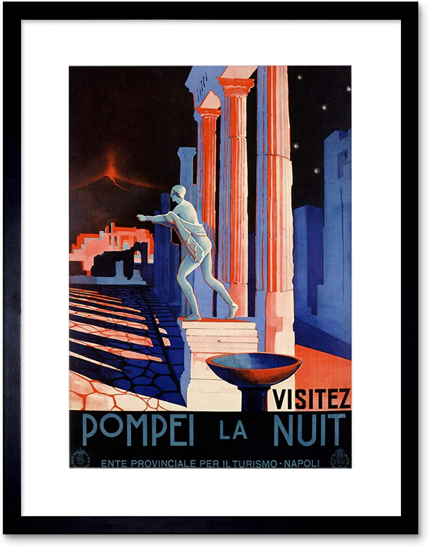 POMPEII ITALY ROMAN STATUE VESUVIUS VOLCANO Travel Canvas art Prints