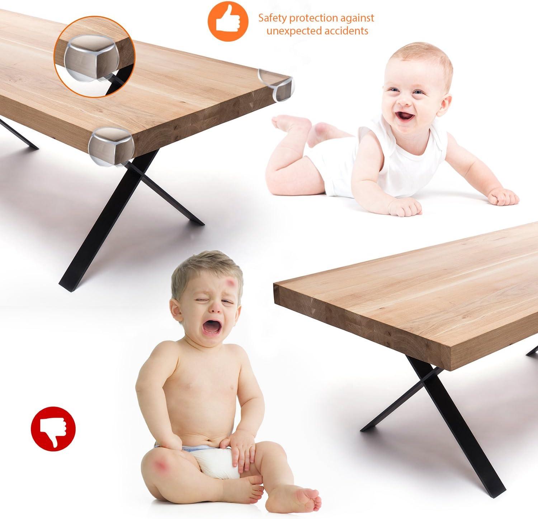 Protector Esquinas 20 Piezas Lesfit Protege Esquinas Mesas Para Muebles Ni/ños Cubre Esquinas Para Bebes Bordes Para Mesas Transparente Con Bolsa Zip