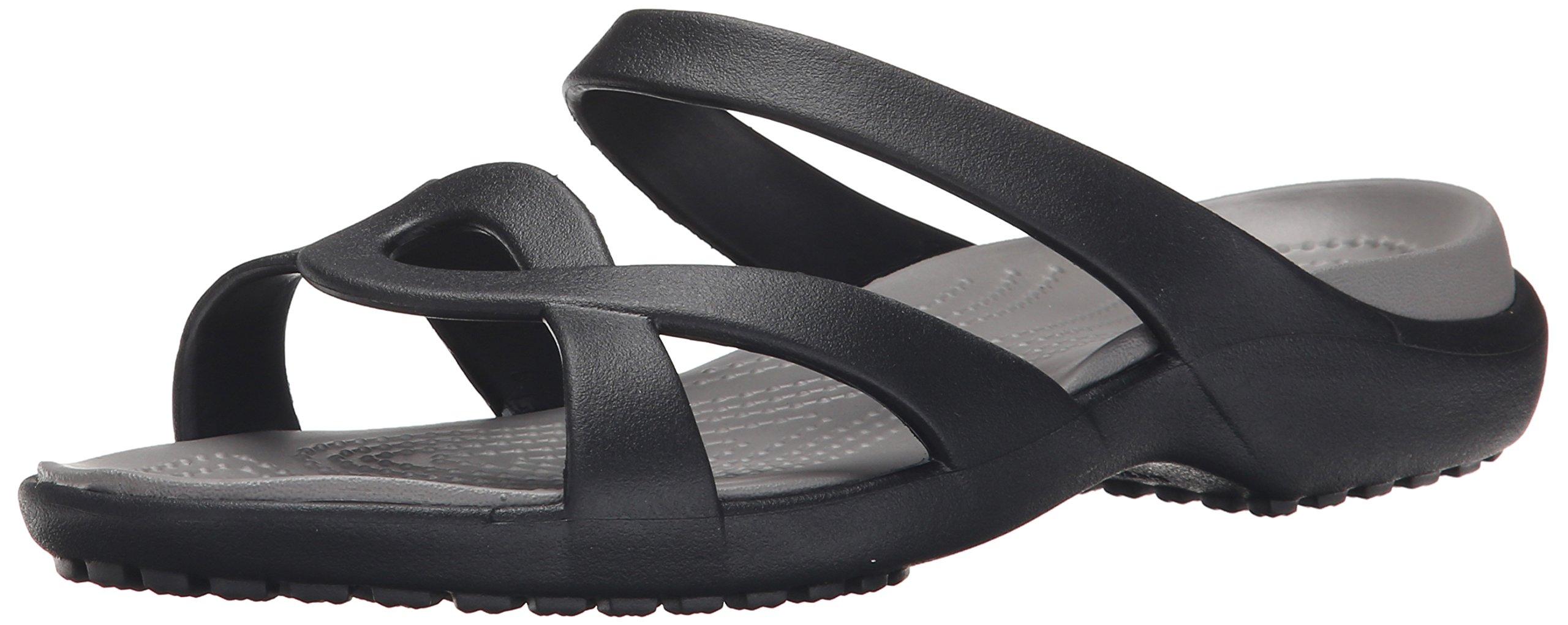 crocs Women's Meleen Twist Sandal, Black/Smoke, 9 US/9 M US by Crocs