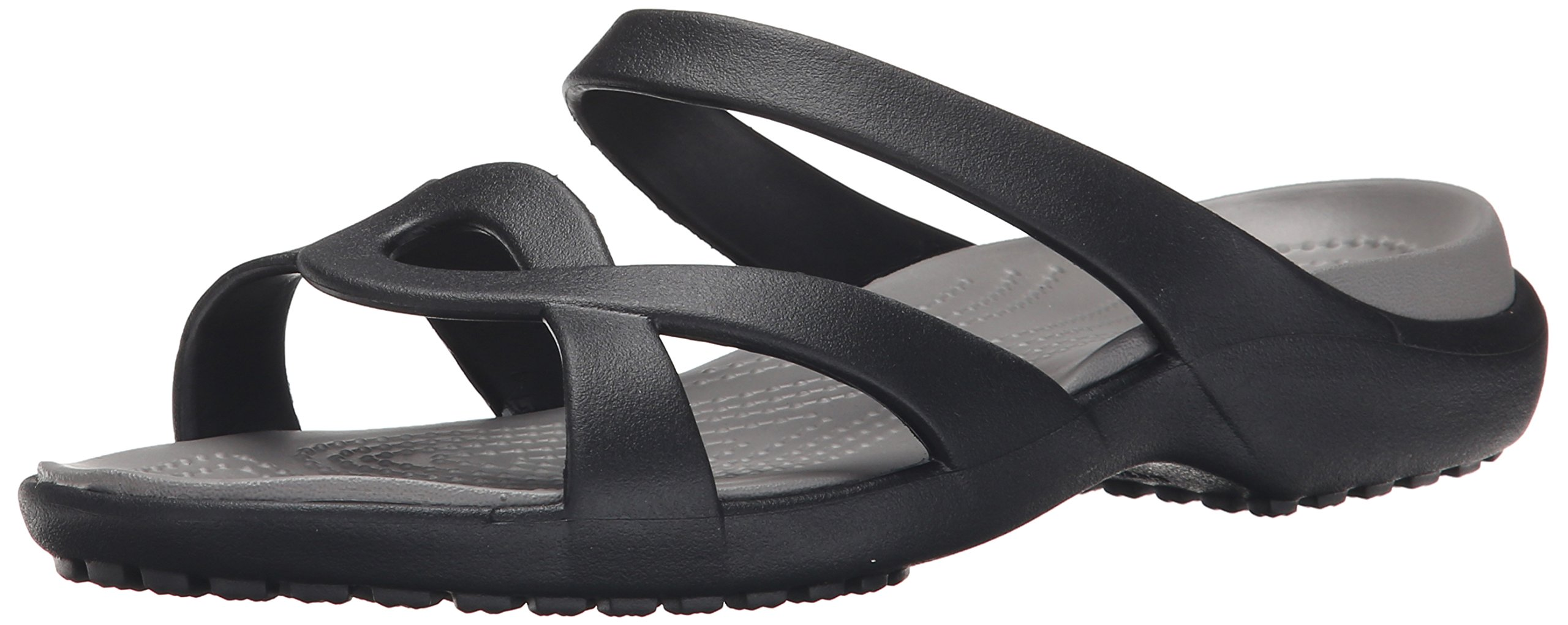 crocs Women's Meleen Twist Sandal, Black/Smoke, 8 M US