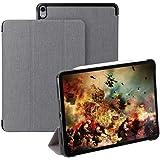 Foluu iPad Pro 12.9インチ ケース 手帳型 第3世代 高級PUレザーカバー スタンドケース タブレット オートスリープ 超薄型 軽量 アイパッドプロ12.9 手帳ケース (iPad Pro 12.9, グレー)