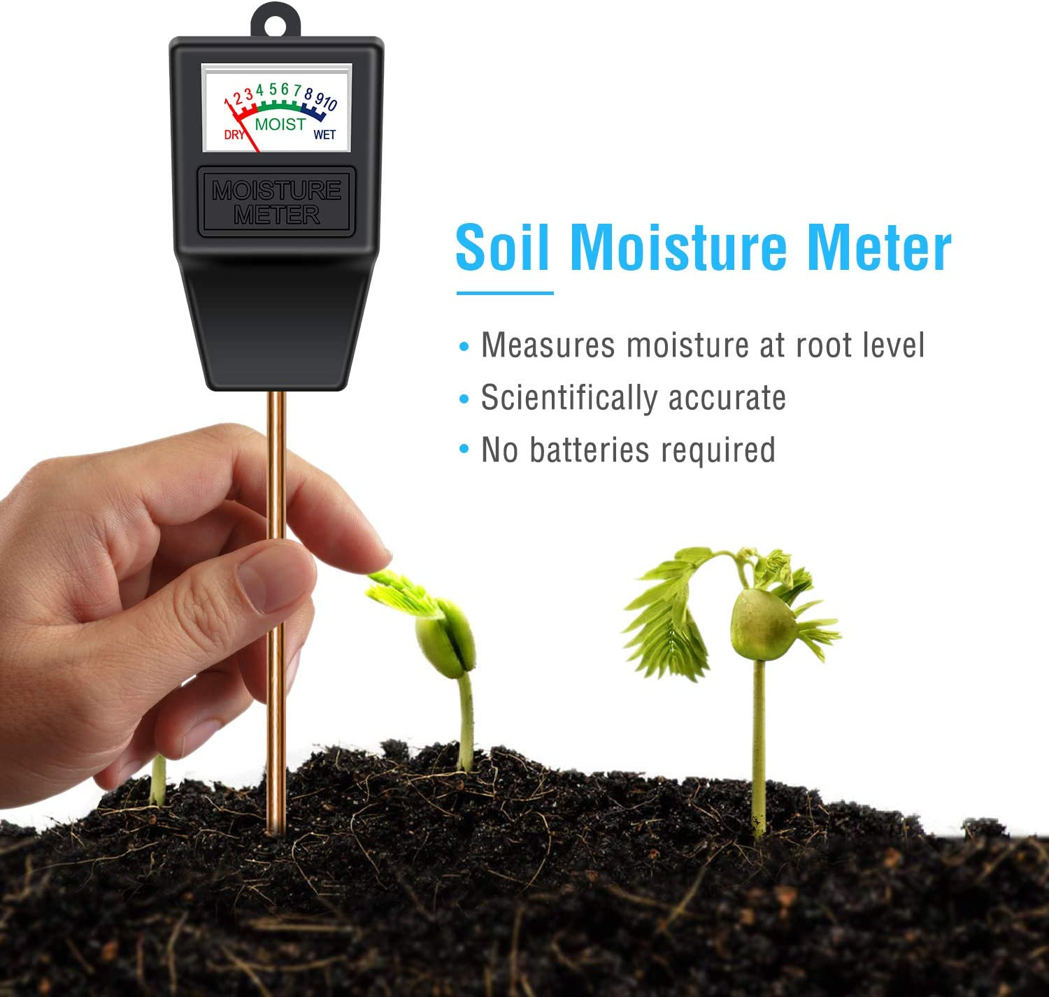 12 Pcs Plant Moisture Meter Water Level Indicator Water Guage For Plants