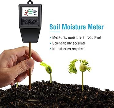 Soil Moisture MeterIndoor//Outdoor Plant Monitor Humidity Hygrometer Sensor