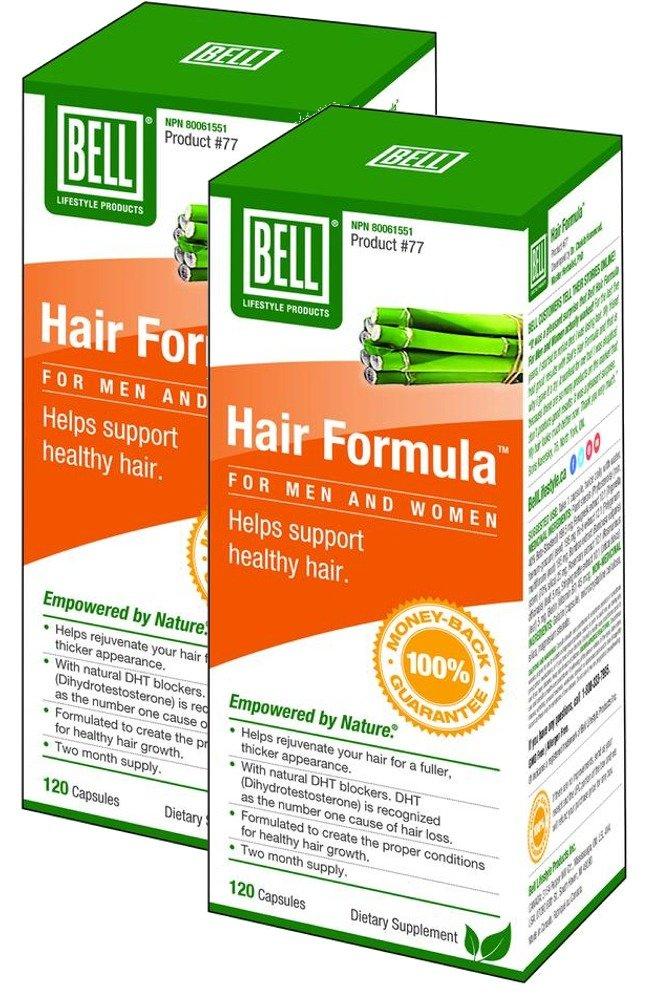 BELL Hair Formula for Men & Women (625 mg - 120 Caps) 2-Pack BELL LIFESTYLE