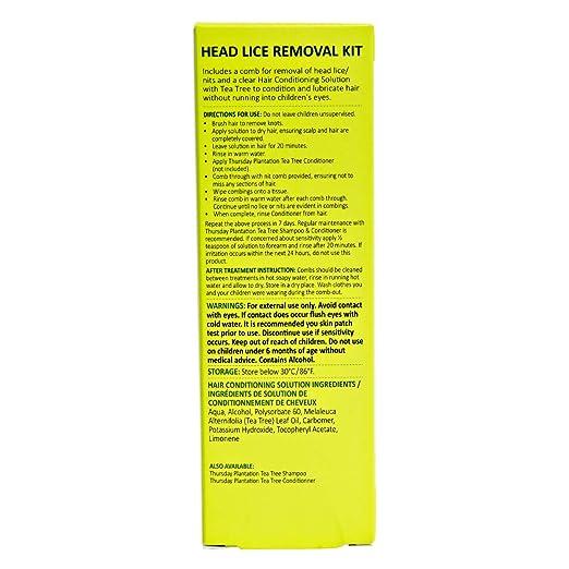 Amazon Thursday Plantation Lice And Egg Removal Kit 60 Ml