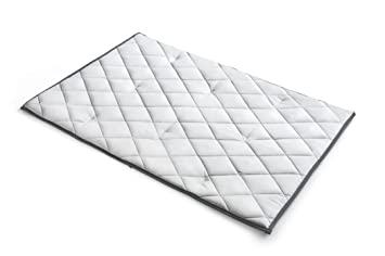 chicco lullaby quilted playard mattress grey by