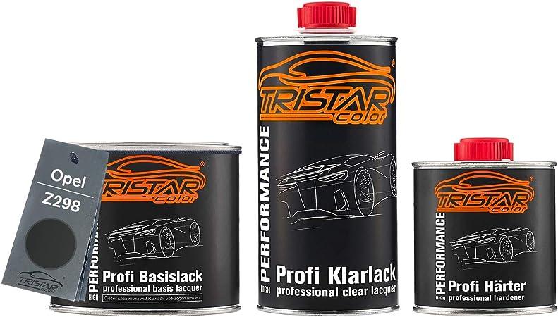 Tristarcolor Autolack Set Dose Spritzfertig Für Opel Z298 Mitternachtsschwarz Metallic Midnight Black Metallic Basislack 2k Klarlack 1 25l Auto