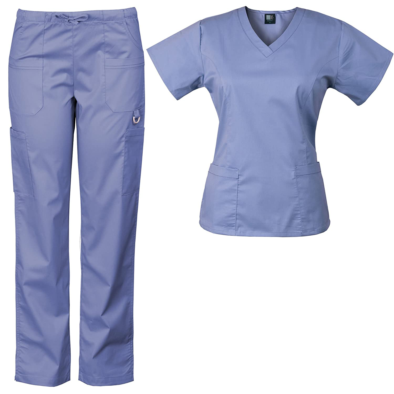 b15a64b79f3 Amazon.com: Medgear 3-Piece Eversoft Stretch Scrubs Set with Printed Top  Combo 7895ST: Clothing