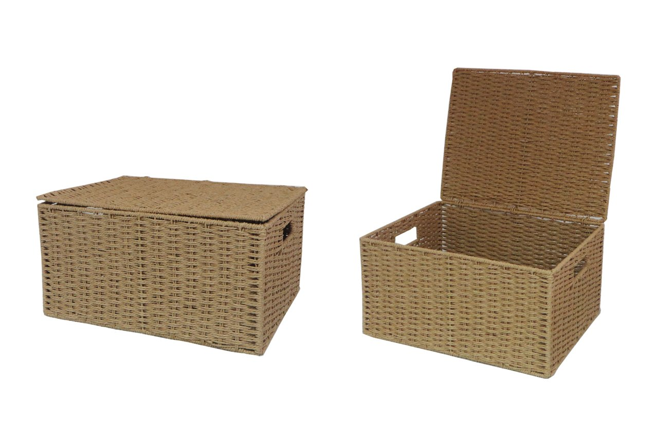2 x Arpan Extra-Large Xmas Hamper Storage Basket With Lid