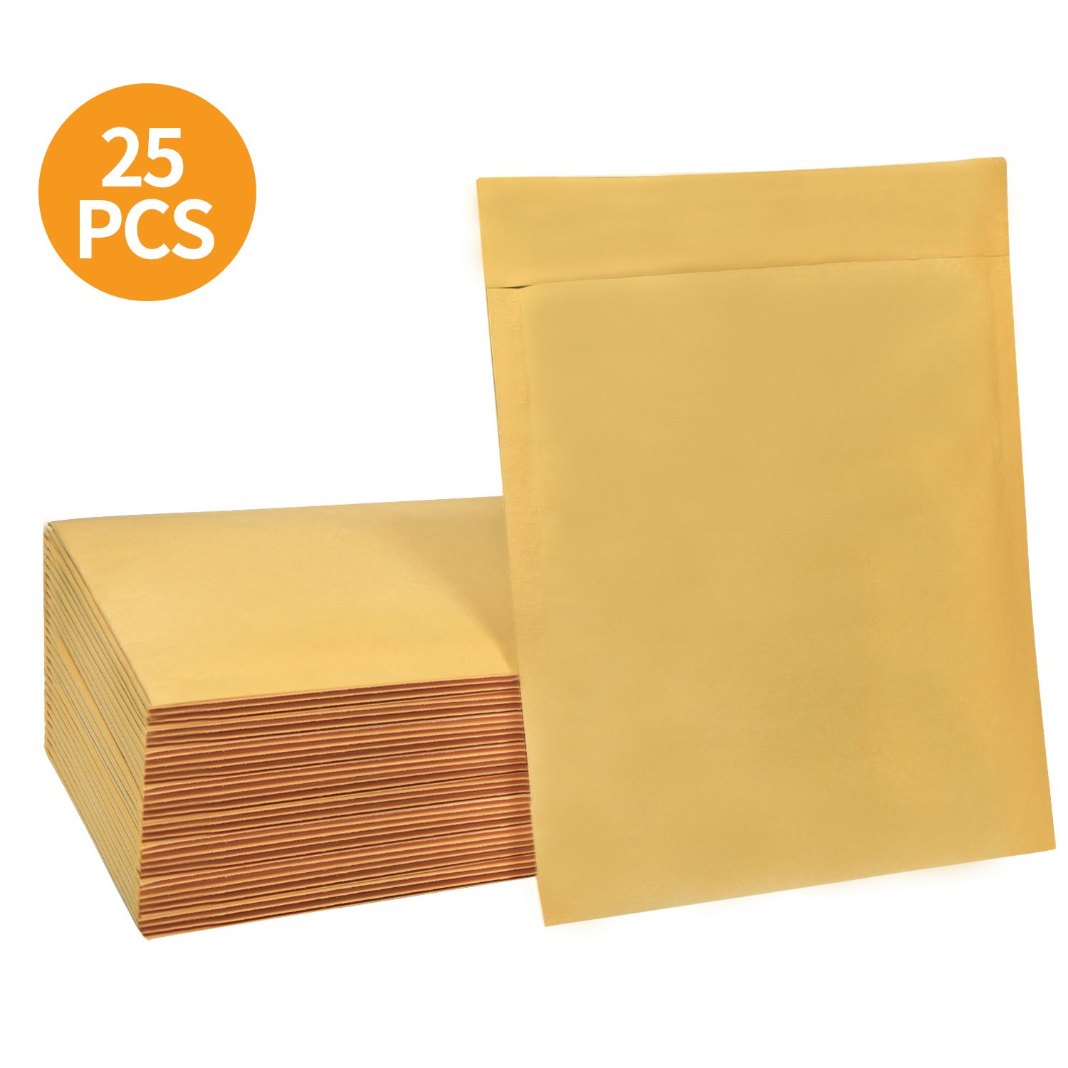 HBlife 8.5x12 inches Kraft Bubble Mailers Self Seal Padded Envelopes, Pack of 25