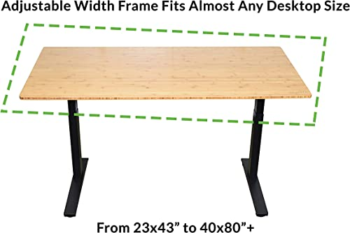 Rise UP Dual Motor Electric Adjustable Height Width Standing Desk Frame